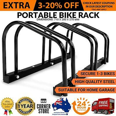 1-3 Bicycle Rack Stand Bike Floor Parking Storage Holder Cycling BMX Portable