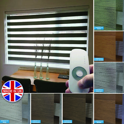 Premium Made to Measure Day and Night Vision/Zebra Window Roller Motorised Blind