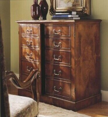 Large Walnut Cupboard with False Drawers Antique Reproduction H114 W114 D61cm