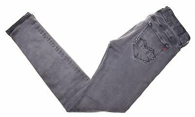 REPLAY Womens Jeans W25 L32 Grey Cotton Super Skinny Rose JZ14