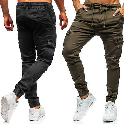 Trainingshose Jogginghose Fitness Sporthose Slim Fit Herren BOLF 6F6 Unifarben