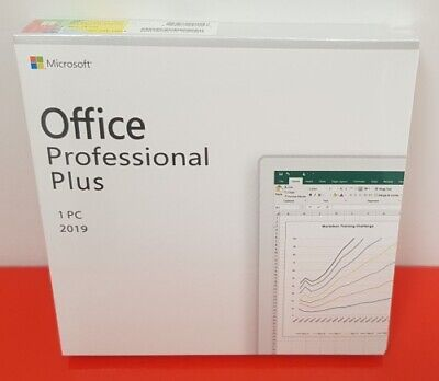 MS Office 2019 Professional Plus Retail for 1 PC DVD Included