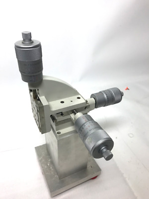 """Line Tool Company Model H 3 Axis Micropositioner Starrett 7"""" Base"""