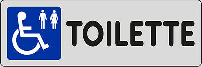 Adhesive 15x5 Toilette (Disabled)