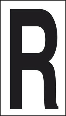 Adhesive 10x5, 6 Letter R