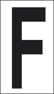 Adhesive 10x5, 6 Letter F