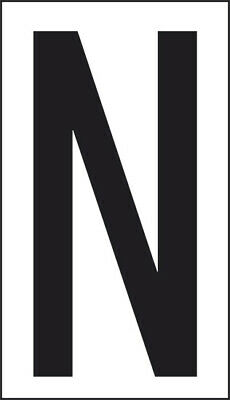 Adhesive 10x5, 6 Letter N