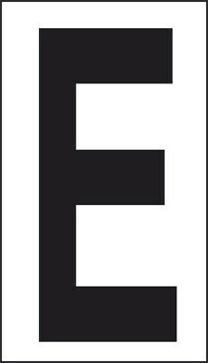 Adhesive 10x5, 6 Letter And
