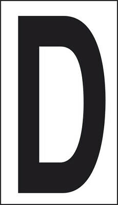 Adhesive 10x5, 6 Letter D