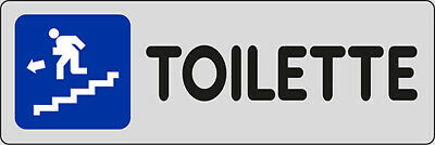 Adhesive 15x5 Toilette (in Bass to Left)
