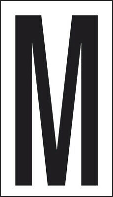 Adhesive 10x5, 6 Letter M