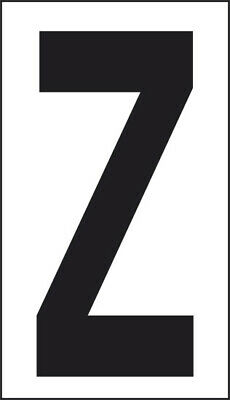 Adhesive 10x5, 6 Letter Z