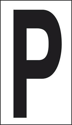 Adhesive 10x5, 6 Letter P