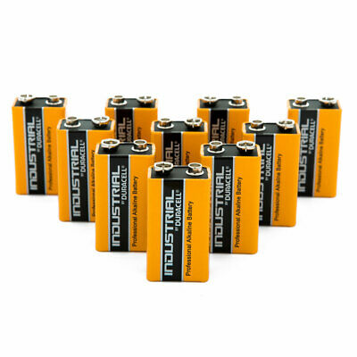 Lot 10X piles 9V Duracell Industrial validité mars 2023 *NEUF*