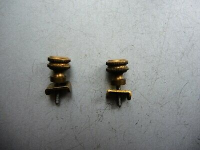 Antique Wall Clock Bracket Mount Brass Head Screws Gustav Becker Junghans Hac Gb