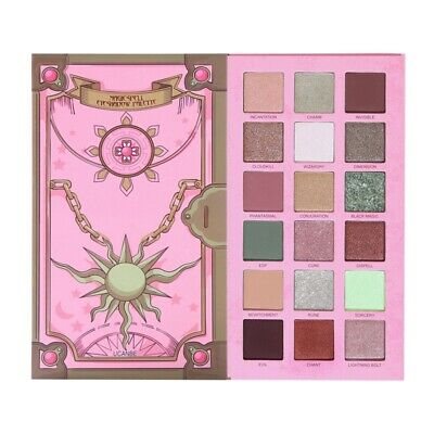 1X(Ucanbe Magic Spell Eyeshadow Palette Vibrant Green Eyes Makeup 18 Colors S2W6