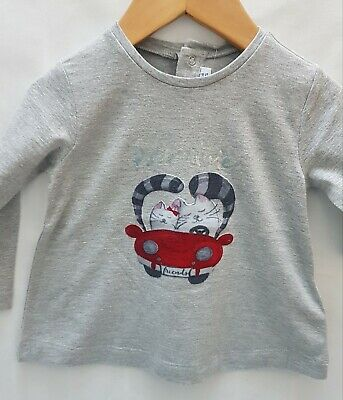 Mayoral Designer Baby Girls Long Sleeve Petal Top Size 12 Months RRP £14.99 New