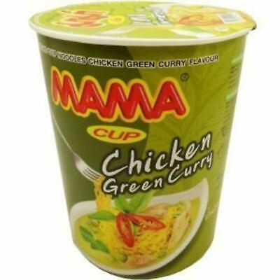 Mama Instant Cup Noodles Chicken Green Curry Flavour Thai 60 g 12 cups