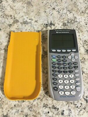 Texas Instruments TI-84 Plus Silver Edition Graphing Calculator School Property