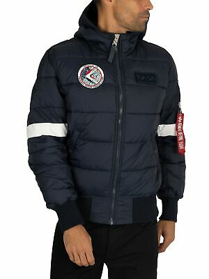 ALPHA INDUSTRIES HOODED Puffer Apollo 11 Herren Winterjacke