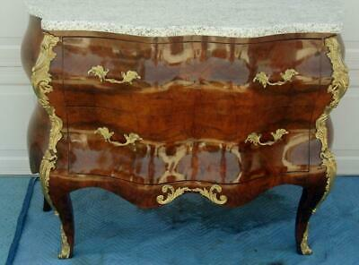 French  Marble Top Bombe Chest / Dresser / Commode / Ormolu Mounts