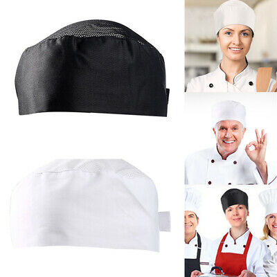 Breathable Top Skull Cap Professional Catering Chefs Adjustable Cooking Hat