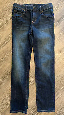 GAP Kids Boys Dark Wash Skinny Stretch Jeans Size 14