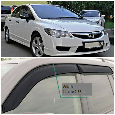 RE12711 Window Visors Vent Wide Deflectors For Renault//Dacia Duster 2011-2017