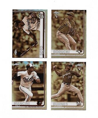 2019 Topps Chrome Sepia Refractor Parallel PICK Set Lot Juan Soto