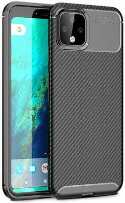 For Google Pixel 4 XL Matte Frosted Protective TPU Back Cover Carbon Fiber Case