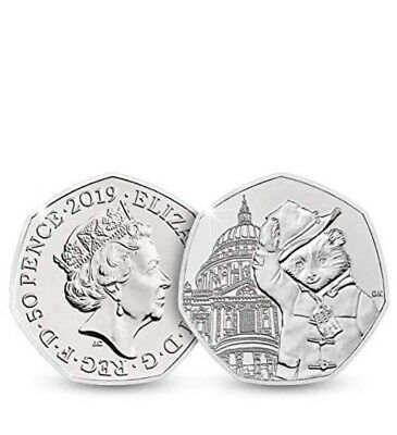 2019 Paddington Bear  50p Coin  UNC From Sealed Bag Outside St Paul's Cathedral