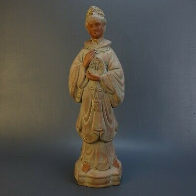 "Asian Chinese Terracotta Woman Female 16"" Figurine Statue"