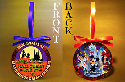 """WDW 2019 Mickey's Not-So-Scary Halloween Party-3"""" Doublesided Ornament-FREE SHIP"""