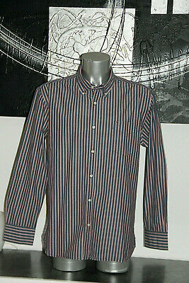 Pretty Shirt Blue Striped tommy hilfiger Custom Fit Size XL Mint