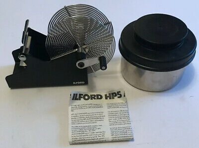 Rare Vintage Ilford HP5 Camera Film Autowinder & Stainless Steel Spool & Tank