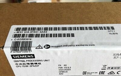 1PC New SIEMENS 6ES7 516-3FN01-0AB0 SIMATIC S7-1500 Central Processing Unit