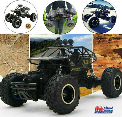 Large Remote Control RC Cars Rock Crawler Monster Truck Kids Toy Gift Brand New