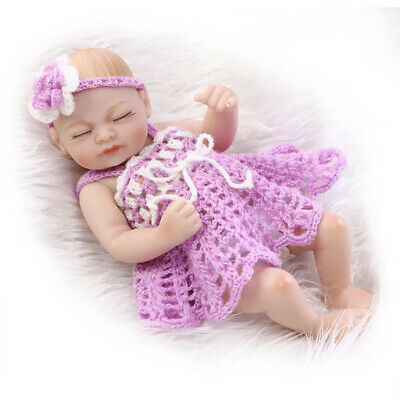 "11"" Handmade Reborn Baby Toy Newborn Lifelike Silicone Vinyl Sleeping Girl Dolls"