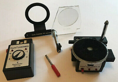 Vintage Durst Photographic Enlarger Luxoneg Colnidap 39 Colorneg III Accessories
