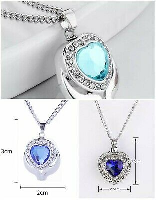 Necklace Cremation Jewellery Ashes Pendant Locket Keepsake Memorial Funeral