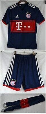 BAYERN MUNICH Adidas Away Football Shirt Shorts Kit 13-14 Boys Youth Child