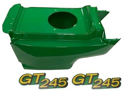 New Lower Hood & Set of 2 Decals Replaces AM132688 M146426 Fits John Deere GT245