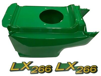 New Lower Hood & Set of 2 Decals Replaces AM132688 M146004 Fits John Deere LX266