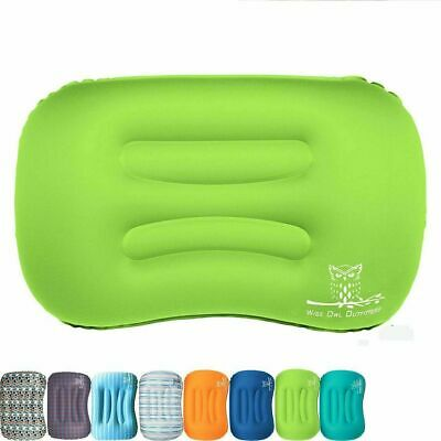 Inflatable Camping Pillow Ultralight for Travel Sleeping Hiking Backpacking Gree