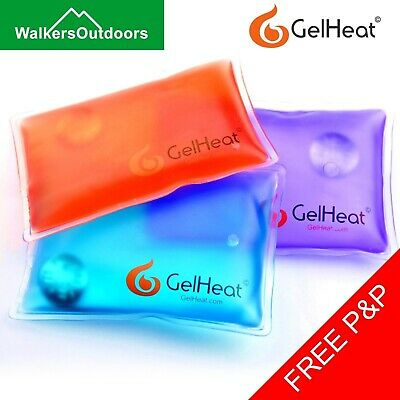 5 x Gel Heat Packs - Reusable Instant Click Pocket Hand Warmers Square Pads