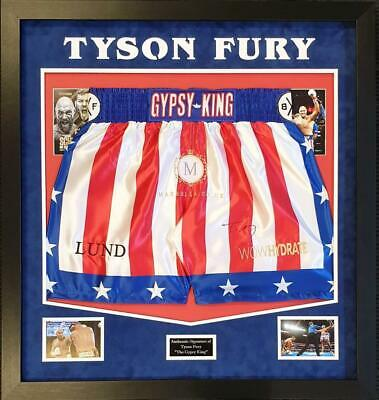 Tyson Fury SIGNED AUTOGRAPH Boxing Trunks AFTAL UACC RD