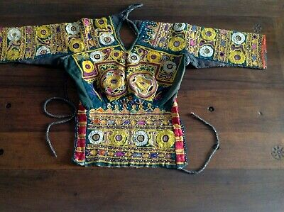 Vintage Tribal Banjara Rabari Choli Gypsy Belly Dance corpetto femminile