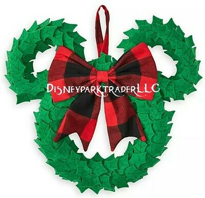 Disney Parks Mickey Mouse Icon Plush Holiday Wreath For Christmas 2019