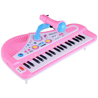 37 Keys Electronic Keyboard Piano Musical Toy with Mic for Children Kids Gift UK