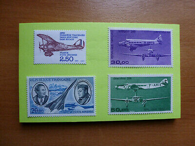 Lot 306 Timbres Stamp Aviation France Annee 1970 - 1987